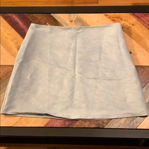 Dusty Blue Faux Suede Skirt